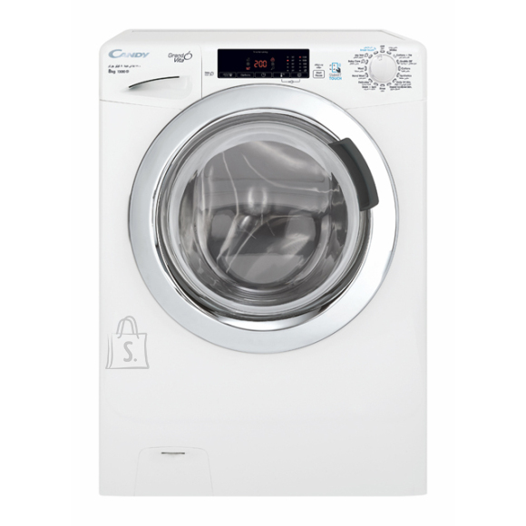 Candy Candy Washing Machine GVS 138TC3-S Front loading, Washing capacity 8 kg, 1300 RPM, A+++, Depth 52 cm, Width 60 cm, White, NFC, Steam function, LCD, Display, Yes,