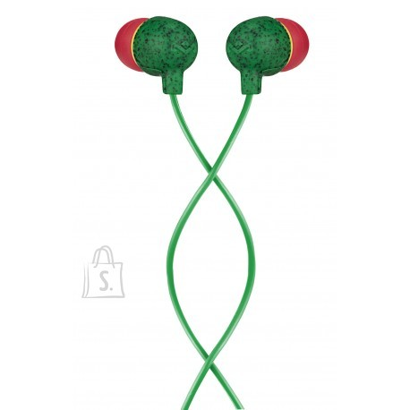 Marley Little Bird Earbuds, In-Ear, Wired, Microphone, Rasta