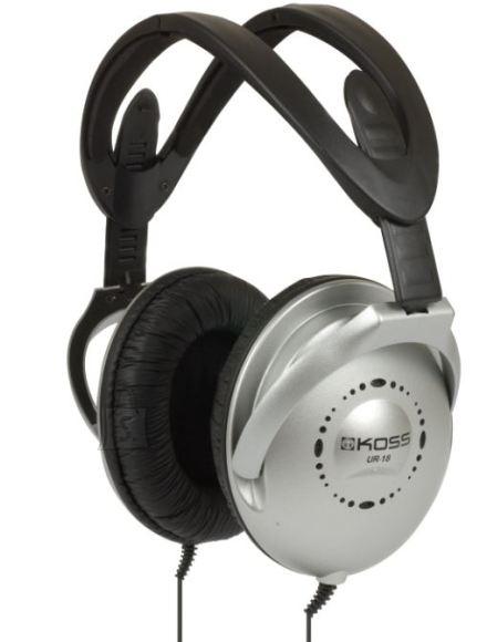 Koss Koss Headphones UR18 Headband/On-Ear, 3.5mm (1/8 inch), Silver, Noice canceling,