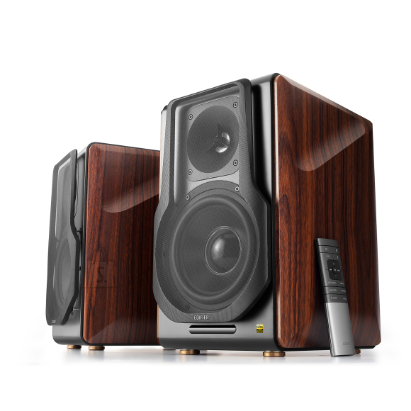 Edifier Edifier Wireless active speaker system  S3000 PRO Balanced, analog, USB, optical and coaxial inputs, Bluetooth version 5.0, Brown,   2x 8 W (HF), 2x 120 W (MF / LF) W