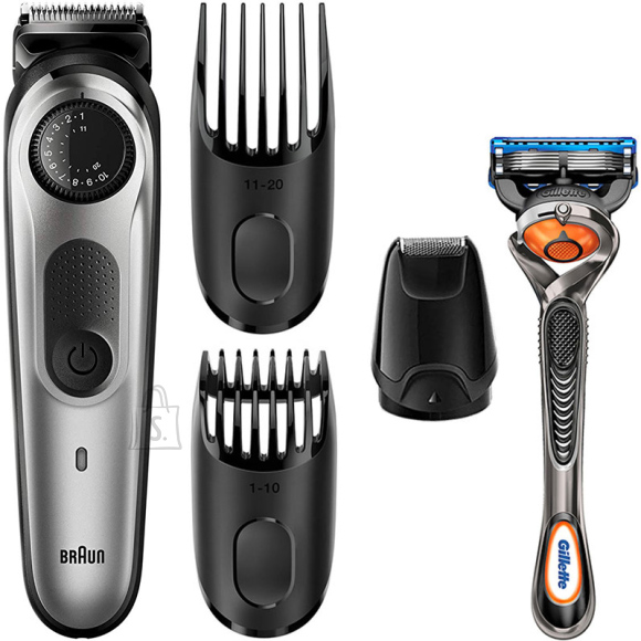 Braun Braun Trimmer with Gillette Razor BT5065 Cordless, Number of length steps 39, Silver