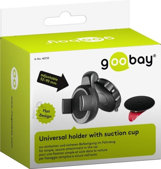 Goobay Goobay Slim in-car suction cup mount for smartphones