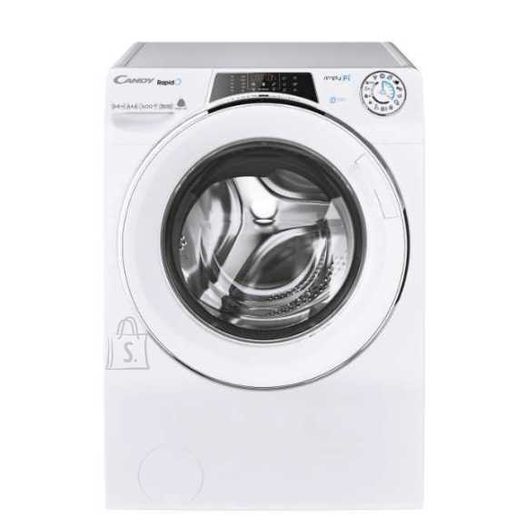 Candy Candy Washing Machine with Dryer ROW 4966DWHC\1-S Front loading, Washing capacity 9 kg, Drying capacity 6 kg, 1400 RPM, A, Depth 54 cm, Width 60 cm, White, Steam function, Drying system, Wi-Fi