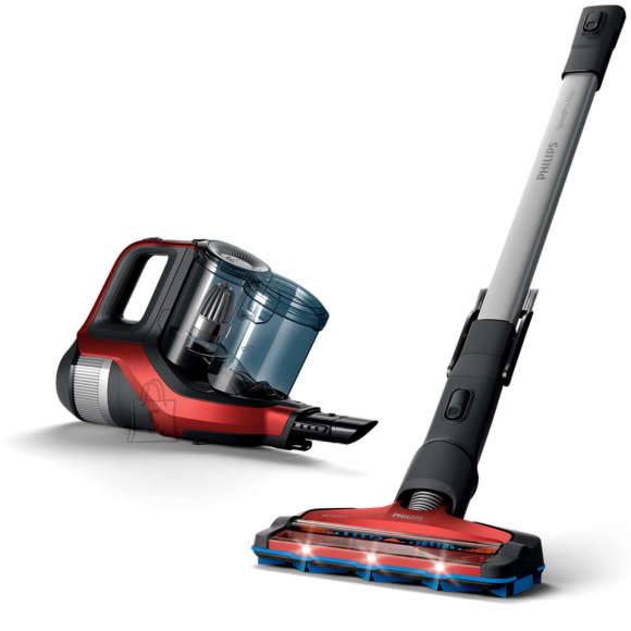 Philips Philips Vacuum cleaner SpeedPro Max FC6823/01 Handstick 2in1, 65 min, 0.6 L, 84 dB, Red/Black