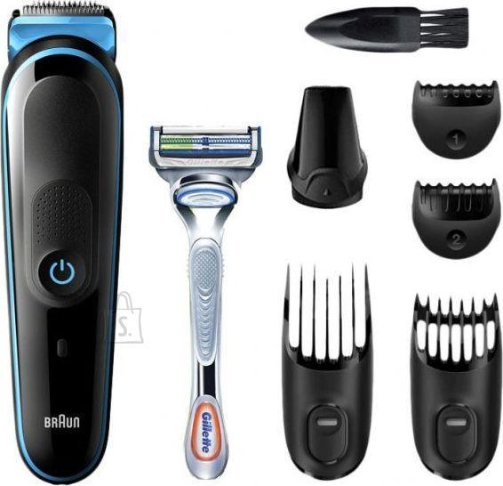Braun Braun Trimmer MGK3242 Beard & hair trimmer, Wet & Dry, Black/Blue, Cordless