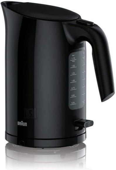 Braun Braun Kettle WK3100BK PurEase Standard, 2200 W, 1.7 L, Plastic, Black, 360° rotational base