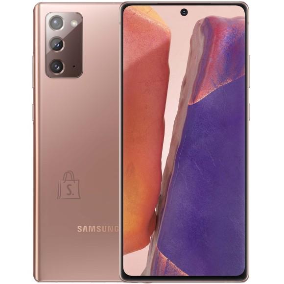 "Samsung Samsung Galaxy Note 20 N980F  Bronze, 6.7 "", Super AMOLED, 1080x2400 pixels, Exynos 990, Internal RAM 8 GB, 256 GB, Dual SIM, Nano-SIM, 3G, 4G, Main camera 64 + 12 +12 MP, Secondary camera 10 MP, Android, 10, 4300 mAh"