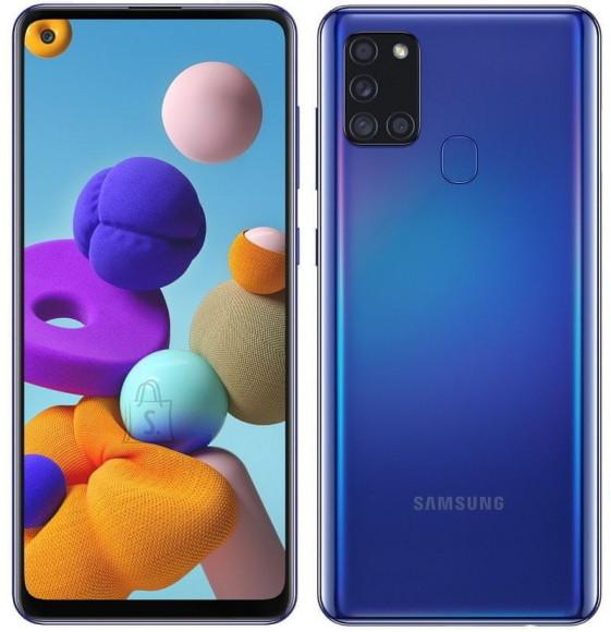 "Samsung Samsung Galaxy  A21s Blue, 6.5 "", TFT LCD, 720 x 1600, Exynos 850, Internal RAM 3 GB, 32 GB, microSD, Dual SIM, Nano-SIM, 3G, 4G, Main camera 48+8+2+2 MP, Secondary camera 13 MP, Android, 10.0,  5000 mAh"