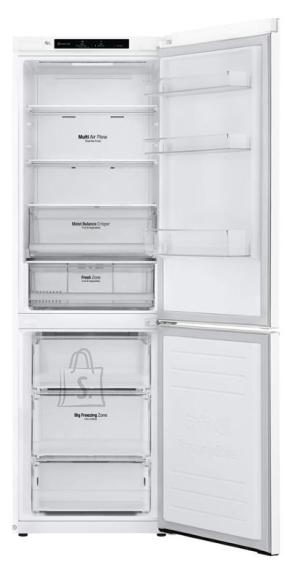 LG LG Refrigerator GBB61SWJMN A++, Free standing, Combi, Height 186 cm, No Frost system, Fridge net capacity 234 L, Freezer net capacity 107 L, Display, 36 dB, White