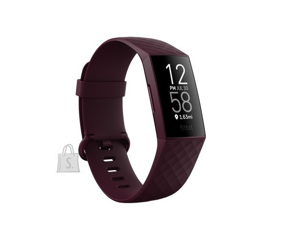 Fitbit Fitbit Charge 4 Fitness tracker, GPS (satellite), OLED, Touchscreen, Heart rate monitor, Activity monitoring 24/7, Waterproof, Bluetooth, Rosewood