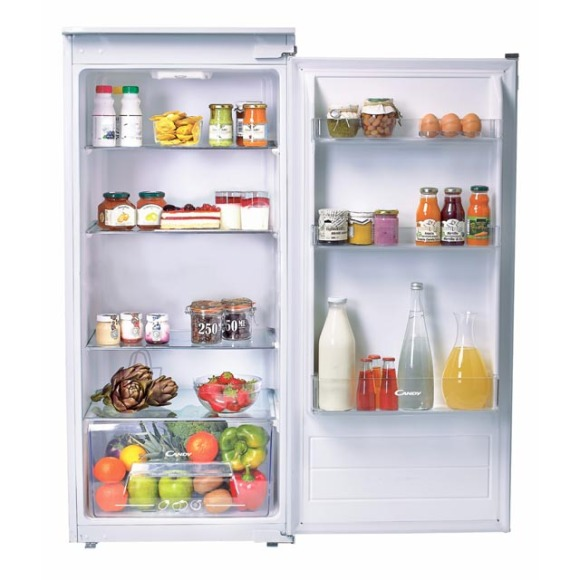 Candy Candy Refrigerator CIL 220 NE A+, Built-in, Larder, Height 122.5 cm, Fridge net capacity 197 L, 40 dB, White