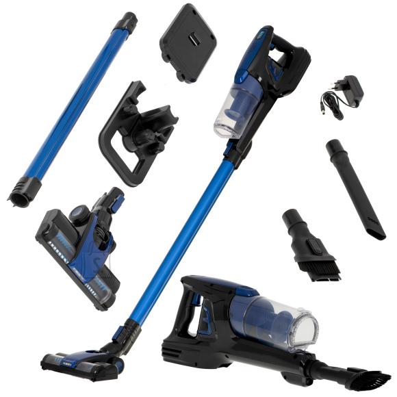 Adler Adler Vacuum Cleaner AD 7043 250 W, Handstick 2in1, 28 min, 0.7 L, Blue, Lithium Ion