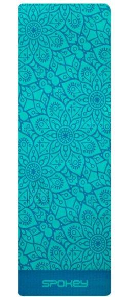 Spokey Spokey MANDALA MAT Non-slip Yoga mat, Antiallergic, odorless, moisture resistant, 183 x 61 x 0.4 cm, Turquoise
