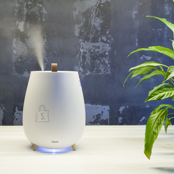DUUX Duux Ultrasonic Humidifier Tag Ultrasonic, 12 W, Water tank capacity 2.5 L, Suitable for rooms up to 30 m², Ultrasonic, Humidification capacity 250 ml/hr, White