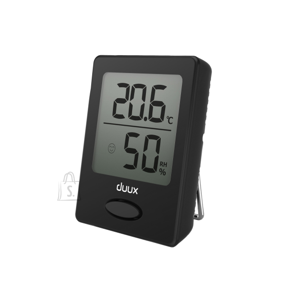 Duux Sense Hygrometer + Thermometer, Black, LCD display