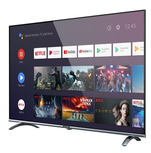 """Allview Allview Smart TV 43ePlay6100-F 43"""" (109 cm), Android 9.0, FHD, 1920 x 1080 pixels, Wi-Fi, DVB-T/T2/C/S/S2, Silver/Black"""