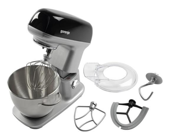 Gorenje Gorenje Kitchen machine MMC1000RLBK Black, 1000 W, Number of speeds 7, 4.5 L