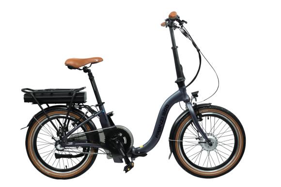 Blaupunkt Blaupunkt Folding E-bike FRANZI 500, 250 W, 25 km/h, Aluminum, 80 km, LCD, 4 h, Lava grey matt, 22.5 kg