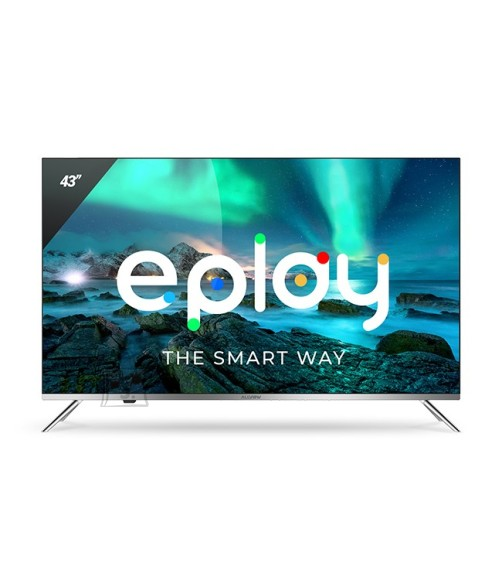 "Allview Allview Smart TV 43ePlay6100-U LED TV, 43"" (109 cm), Android 9.0, 4K UHD, 3840x2160 pixels, Wi-Fi, DVB-T/T2/C, Silver/Black"