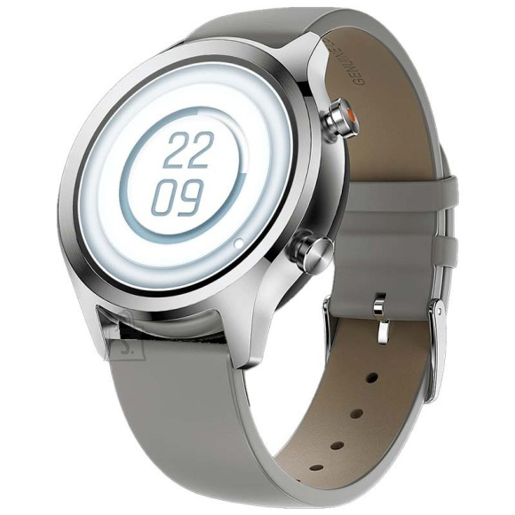 TicWatch Smart Watch C2 plus NFC, GPS (satellite), AMOLED, Heart rate monitor, Waterproof, Bluetooth, Platinum, Wi-Fi