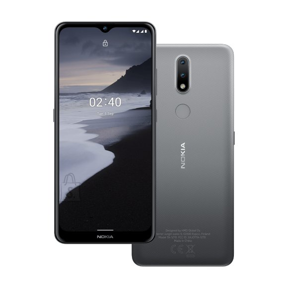 "Nokia Nokia TA-1270 2.4 6.5 "", Charcoal Grey, IPS LCD, 720 x 1600 pixels, Mediatek MT6762 Helio P22, Dual SIM, Nano-SIM, 5.0, Internal RAM 2 GB, 32 GB, MicroSDXC, 3G, 4G, Main camera 13+2 MP, Secondary camera 5 MP, Android, 10.0, 4500 mAh"