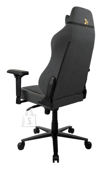 Arozzi Gaming Chair Primo Woven Fabric Black/Grey/Gold logo