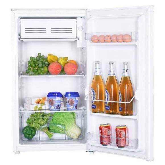 Goddess Goddess Refrigerator GODRSD084GW8SS A+, Free standing, Larder, Height 85 cm, Fridge net capacity 73 L, Freezer net capacity 10 L, 41 dB, White