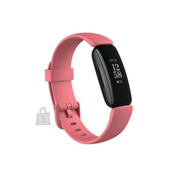 Fitbit Fitbit Inspire 2 Smart watch, GPS (satellite), OLED, Touchscreen, Heart rate monitor, Activity monitoring 24/7, Waterproof, Bluetooth, Wi-Fi, Desert Rose/Black