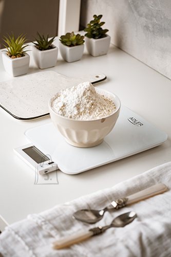 Adler Adler Electronic Kitchen scale AD 3167w Maximum weight (capacity) 10 kg, Graduation 1 g, Display type LCD, White