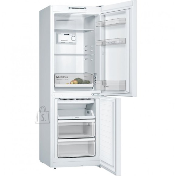 Bosch Bosch Refrigerator KGN33NWEB A++, Free standing, Combi, Height 176 cm, No Frost system, Fridge net capacity 192 L, Freezer net capacity 87 L, 42 dB, White