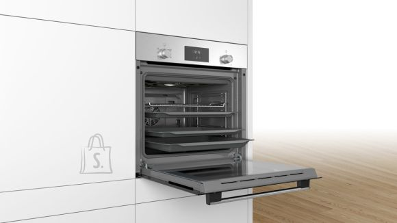 Bosch Bosch Oven HBF113BR0S 66 L, Built-in, Electronic, Height 59.5 cm, Width 59.4 cm, Stainless steel/Black