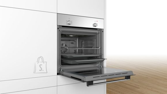 Bosch Bosch Oven HBF010BR0S 66 L, Built-in, Rotary knobs, Height 59.5 cm, Width 59.4 cm, Stainless steel/Black