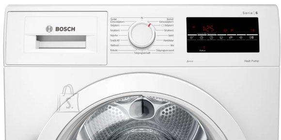 Bosch Bosch Dryer mashine WTR87TW0SN Energy efficiency class A+++, Front loading, 8 kg, Sensitive dry, LED, Depth 60 cm, White