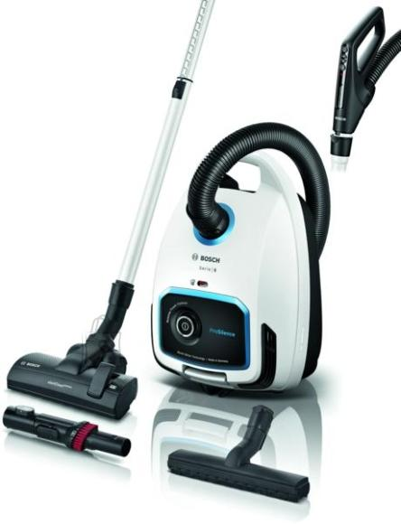 Bosch Bosch Vacuum cleaner BGB6SIL1 Bagged, Dry cleaning, Power 700 W, Dust capacity 4 L, 66 dB, White