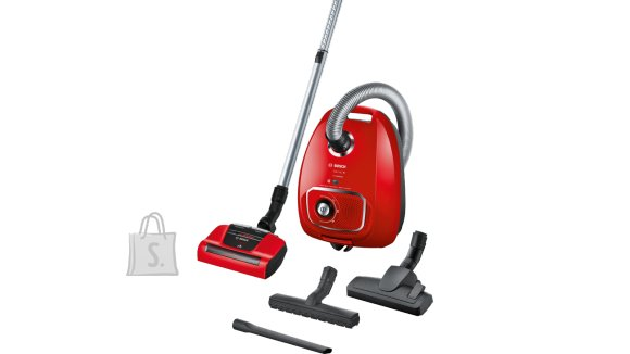 Bosch Bosch Vacuum cleaner BGLS4PET2 Bagged, Dry cleaning, Power 700 W, Dust capacity 1 L, 75 dB, Red