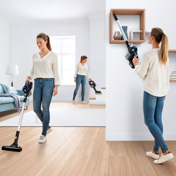 Bosch Bosch Vacuum cleaner Unlimited BBS611PCK Cordless operating, Handstick and Handheld, 18 V, Operating time (max) 30 min, Blue