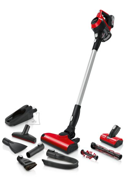 Bosch Bosch Vacuum cleaner Unlimited ProAnimal BBS61PET2 Cordless operating, Handstick and Handheld, 18 V, Operating time (max) 30 min, Red/Black, Warranty 24 month(s), Battery warranty 24 month(s)
