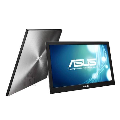 "Asus Asus Portable LCD MB168B 15.6 "", TN, HD ready, 1366 x 768 pixels, 11 ms, 200 cd/m?, Black, Silver, USB 3.0, USB-powered, Ultra-slim, Auto-rotatable"