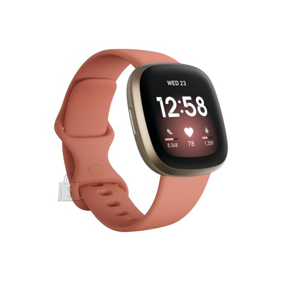 Fitbit Versa 3 nutikell , GPS (satellite), AMOLED, Touchscreen, Heart rate monitor, Activity monitoring 24/7, Waterproof, Bluetooth