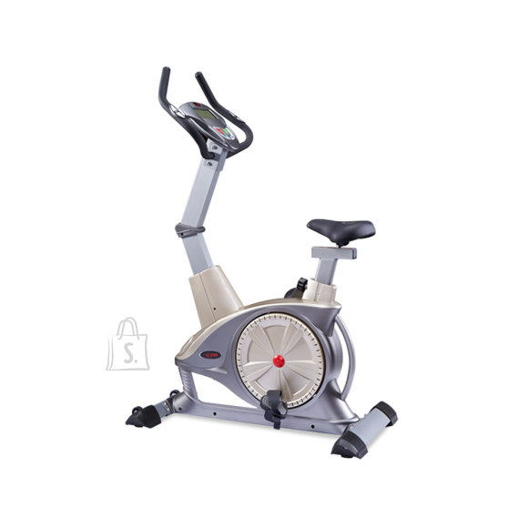 WNQ F1-7318LC ECB Semi-Commercial Upright Bike, ECB motor permanent magnetic resistance system, 130 kg, Silver Grey, 5 '' LCD blue screen, 10 exercise modes: Manual; Interval; Fluctuation; Weightlessness; Inclination running; Climbing; Fat burning; Racing;