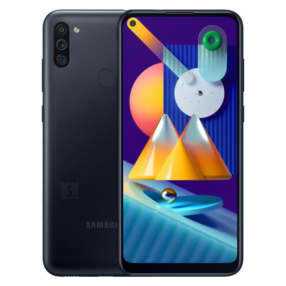 "Samsung Samsung Galaxy M11 Black, 6.4 "", PLS TFT, 720 x 1560 pixels, Qualcomm SDM450, Snapdragon 450, Internal RAM 3 GB, 32 GB, microSDXC, Dual SIM, 3G, 4G, Main camera 13+5+2 MP, Android, 10.0, 5000 mAh"
