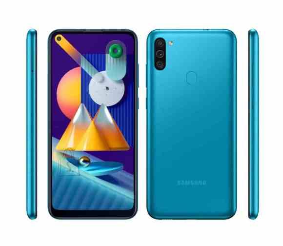 "Samsung Samsung Galaxy M11 Blue, 6.4 "", PLS TFT, 720 x 1560 pixels, Qualcomm SDM450, Snapdragon 450, Internal RAM 3 GB, 32 GB, microSDXC, Dual SIM, 3G, 4G, Main camera 13+5+2 MP, Android, 10.0, 5000 mAh"