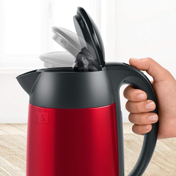 Bosch Bosch Kettle DesignLine TWK3P424 Electric, 2400 W, 1.7 L, Stainless steel, 360? rotational base, Red