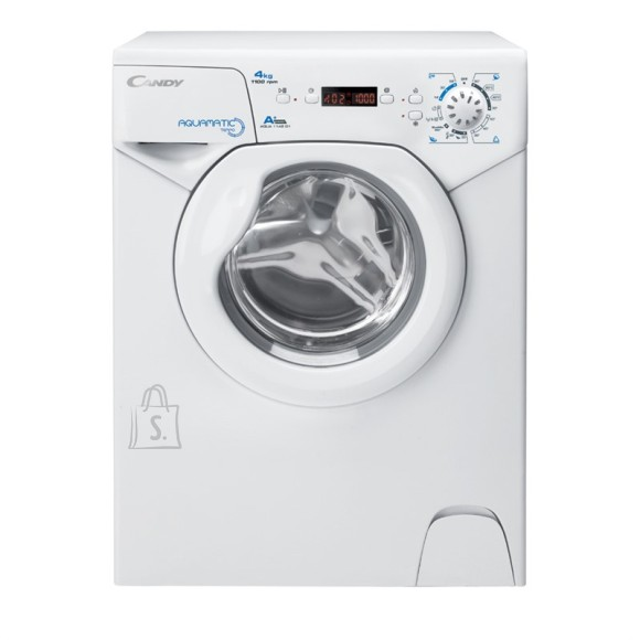 Candy Candy Washing maschine AQUA 1142DE/2-S Front loading, Washing capacity 4 kg, 1100 RPM, A+, Depth 45 cm, Width 51 cm, White, Digital, Display