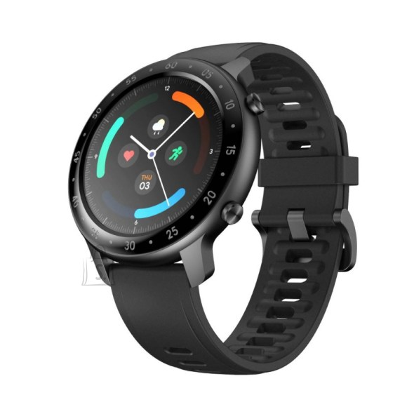 TicWatch GTX Smart watch, TFT, Touchscreen, Heart rate monitor, Activity monitoring 24/7, Waterproof, Bluetooth, Black