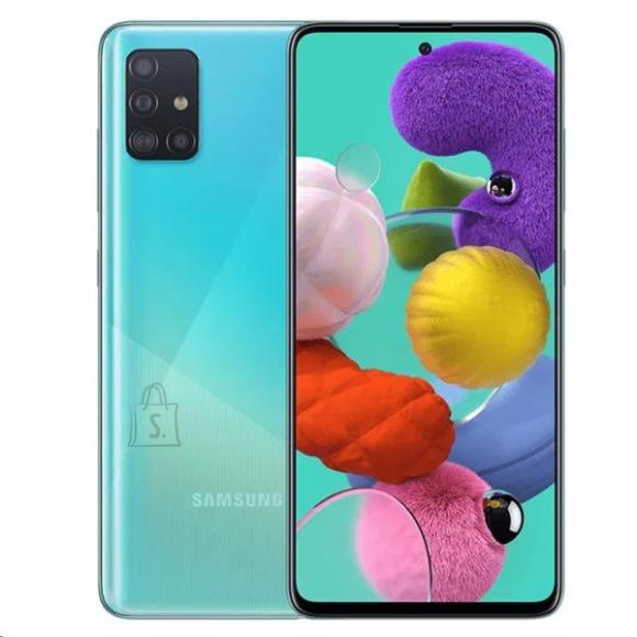 "Samsung Samsung Galaxy A71 A715 Blue, 6.7 "", Super AMOLED, 1080 x 2400, Qualcomm, Snapdragon 730, Internal RAM 6 GB, 128 GB, microSD, Dual SIM, Nano-SIM, 3G, 4G, Main camera 64+12+5+5 MP, Secondary camera 32 MP, Android, 10.0, 4500 mAh"