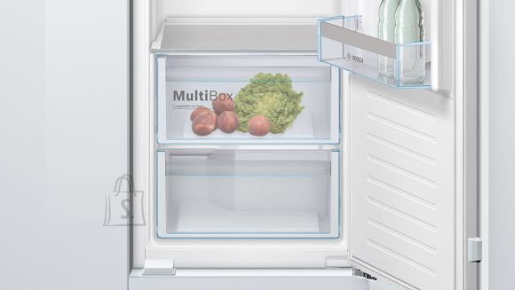 Bosch Bosch Serie 4 Refrigerator KIR81VFF0 Energy efficiency class F, Built-in, Larder, Height 177,5 cm, Fridge net capacity 319 L, 37 dB, White