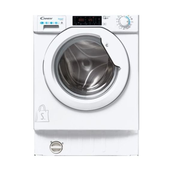 Candy Candy Washing Machine with Dryer CBDO485TWME/1-S Front loading, Washing capacity 8 kg, Drying capacity 5 kg, 1400 RPM, A, Depth 52.5 cm, Width 60 cm, White, Drying system, NFC, Wi-Fi