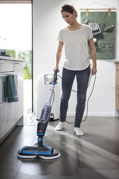 Bissell Bissell Mop SpinWave Corded operating, Washing function, Power 105 W, Blue/Titanium