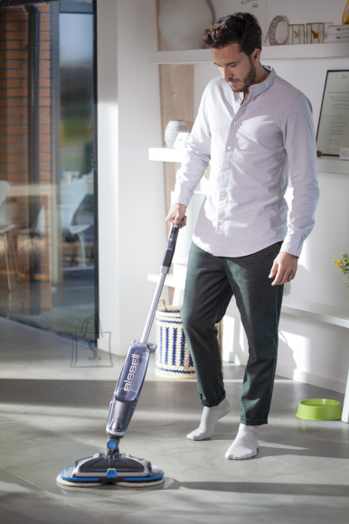 Bissell Bissell Mop SpinWave  Cordless operating, Washing function, Operating time (max) 20 min, Lithium Ion, 18 V, Blue/Titanium